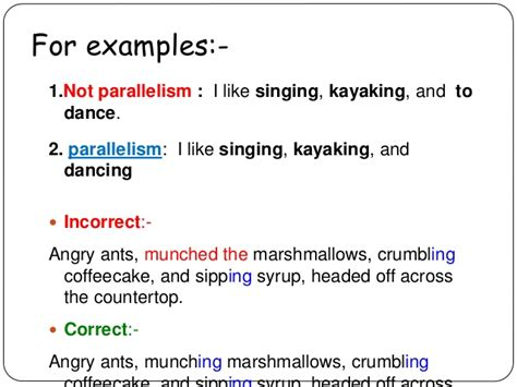 parallelism exles alisen berde