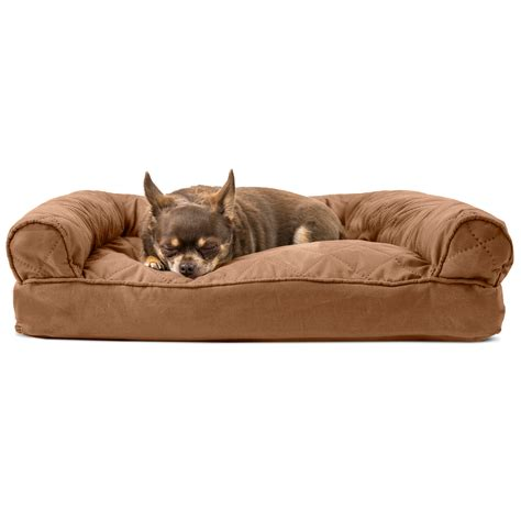 dog bed sofa furhaven quilted pillow sofa dog bed pet bed ebay