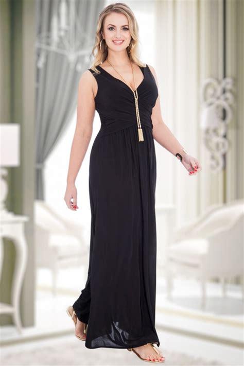 Priscilla Maxidress 50s priscilla cross maxi dress in black
