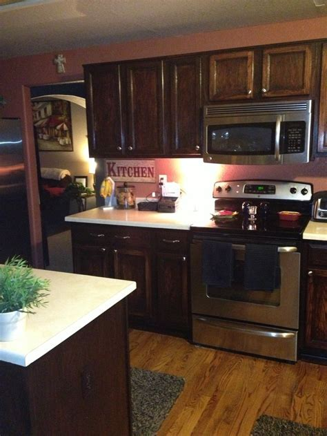 Kitchen cabinets with gel stain   Home decor   Pinterest