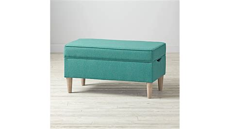 turquoise storage bench upholstered storage bench galaxy turquoise the land of nod