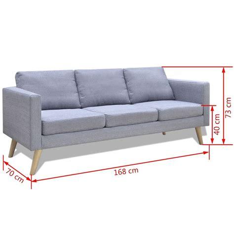 divano 3 posti tessuto divano in tessuto a 3 posti grigio chiaro vidaxl it