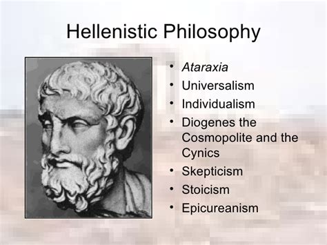 philosophy in the hellenistic greek philosophy and the hellenistic world