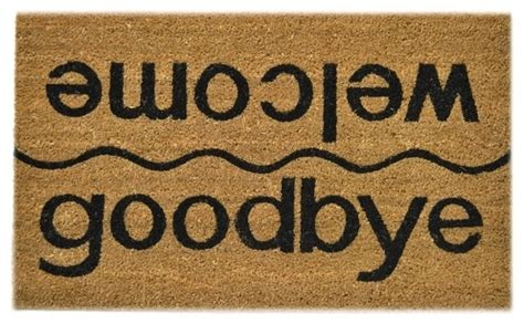 Welcome Goodbye Mat by Welcome And Goodbye Door Mat Doormats By Knobbery Dot Llc
