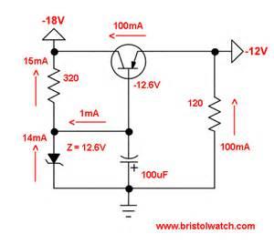 regulated power supply using zener diode transistor zener diode regulator circuits