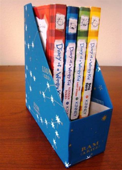 make recycled cereal box book holders www myajc