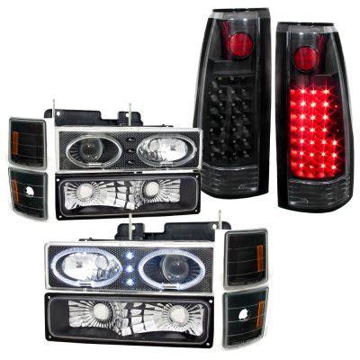 1996 chevy silverado tail lights 1996 chevy silverado black halo projector headlights and