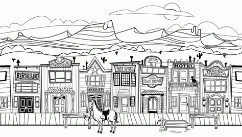 ghost town free coloring pages printable adult wild west town coloring pages coloring home