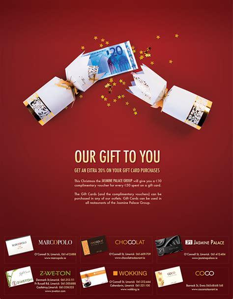 christmas gift advertisement print advertisement for restaurant on behance