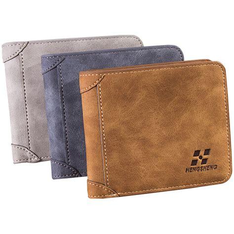 baellerry dompet kulit pria bahan nubuck model horizontal brown jakartanotebook
