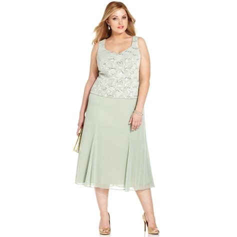 Dress Jacquard Gown 9 alex evenings plus size sequin jacquard dress and jacket in green lyst