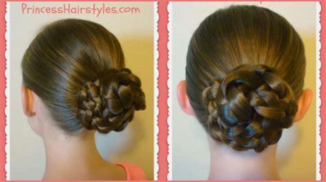 Basic Hairstyles by Easy Braid Bun Back To School Basic Hairstyles