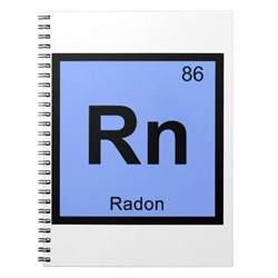 rn radon chemistry periodic table symbol spiral notebook