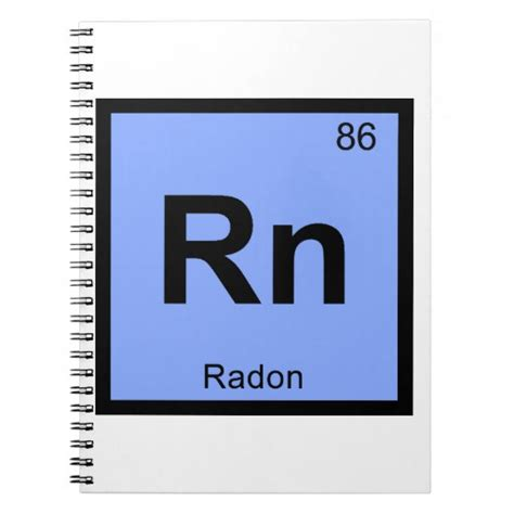Rn On Periodic Table by Rn Radon Chemistry Periodic Table Symbol Spiral Notebook