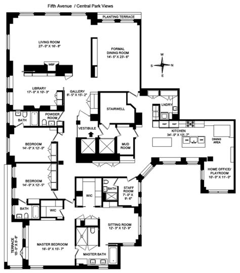 820 fifth avenue floor plan jeff blau ask 43 million for fifth ave aerie variety
