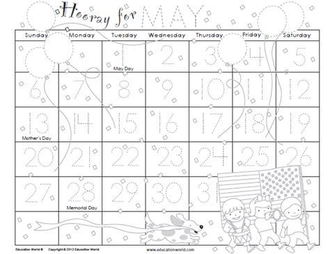 printable calendar education world traceable calendars for kids