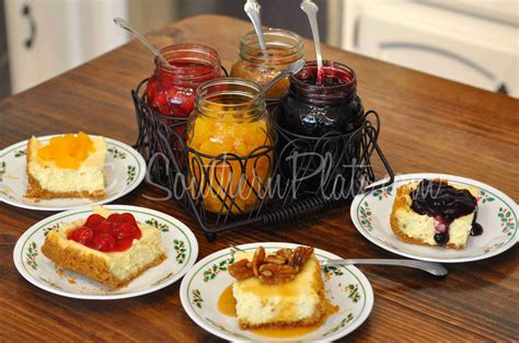 cheesecake toppings bar cheesecake bar make everyone happy southern plate