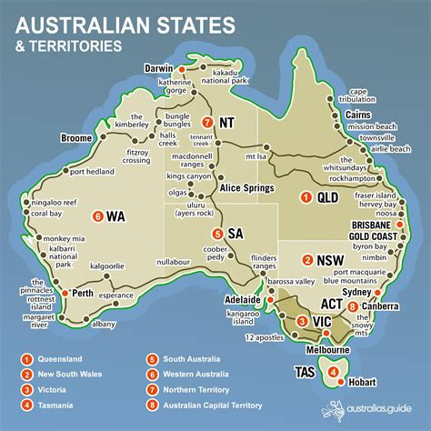 map of australia with states australia map states and territories australia map