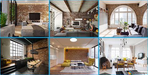 idee di arredo pareti con mattoni a vista per il salotto 30 idee di