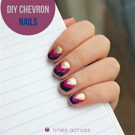easy nail art chevron diy chevron nails lines across