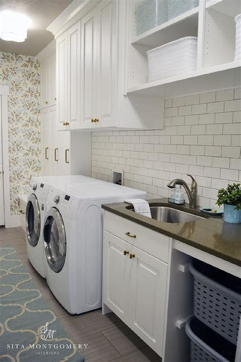 white cabinets laundry room white laundry room cabinets with gold knobs transitional