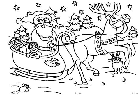 coloring pictures of father christmas christmas santa coloring pages