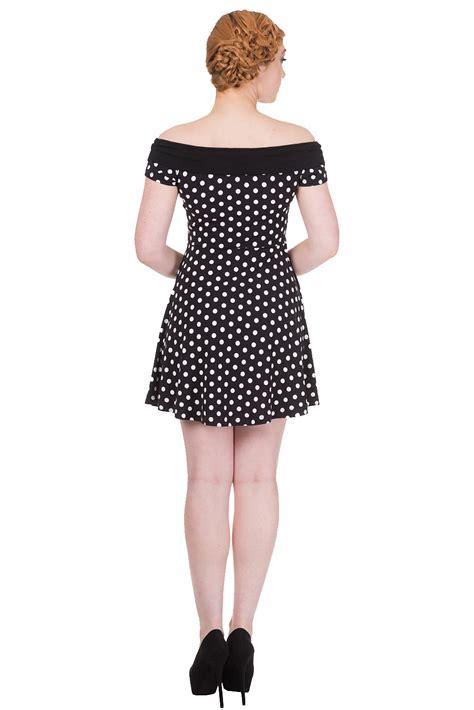 Mini Dress Import Motif Dot banned reverly polka dot mini dress 50s bardot dresses by banned days