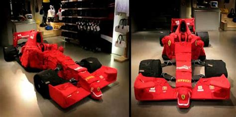 How To Make A F1 Car Out Of Paper - f1 car made out of clothes 9 pics izismile