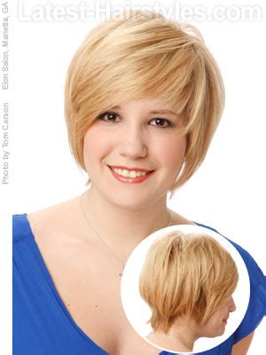 rounded shape face and chubby cheeks justifying shopaholism hair style hair cut for