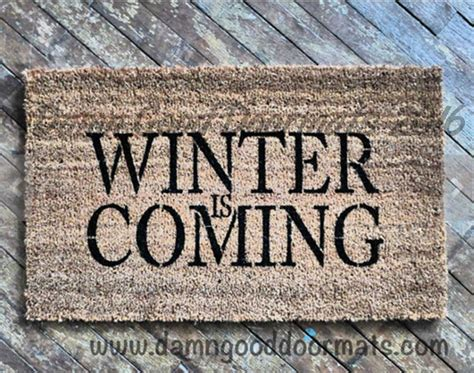 Winter Doormat Winter Is Coming Doormat Damn Doormats
