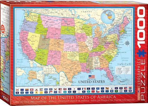 united states map puzzle map of the united states 1000 teile eurographics