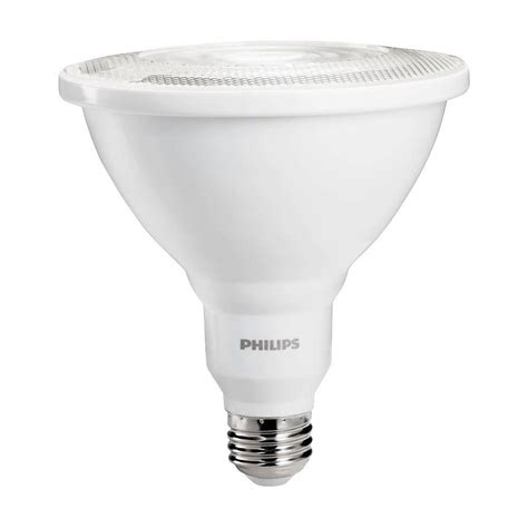 Philips 100w Equivalent Bright White Par38 Indoor Outdoor Led Flood Light Bulbs Indoor