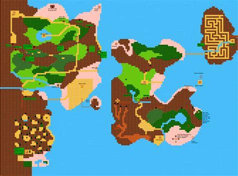 legend of zelda world map nes nes zelda world map