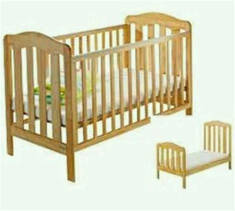 cot beds mamas and papas eloise natural wooden cot bed junior bed in ayr south ayrshire