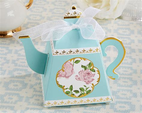 tea time whimsy teapot favor box set of 24 my wedding favors
