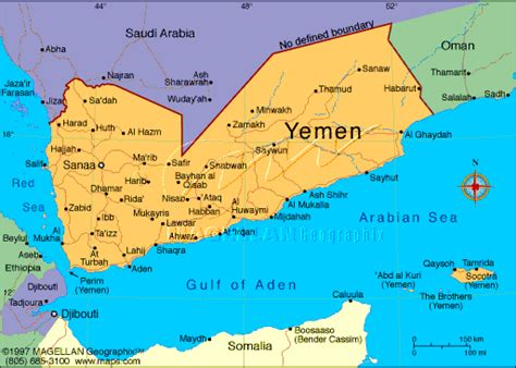 printable map of yemen hbjjyemen home