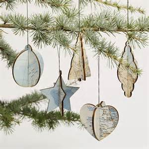 Tree Decorations Vintage by Tree Decorations Vintage Map Ornaments