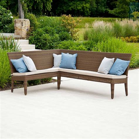 corner patio bench outdoor corner bench ideas which are perfect for family