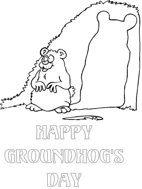Groundhog Color Sheet Coloring Home D Day Coloring Pages