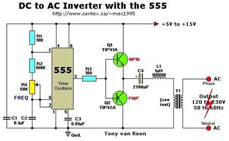 berbagi ilmu rangkaian inverter 12v dc to 220v ac 100 12vdc to 220vac inverter with 555 timer inverter circuit