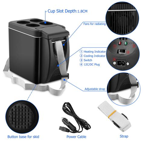 Freezer Box Mini Baru 6l portable 12v mini car freezer cooler warmer electric