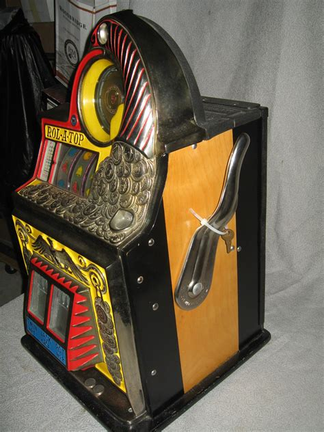 rol  top coin front  antique slot machine gameroom show