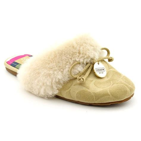 coach slipper coach carra womens suede slipper shoes gossip