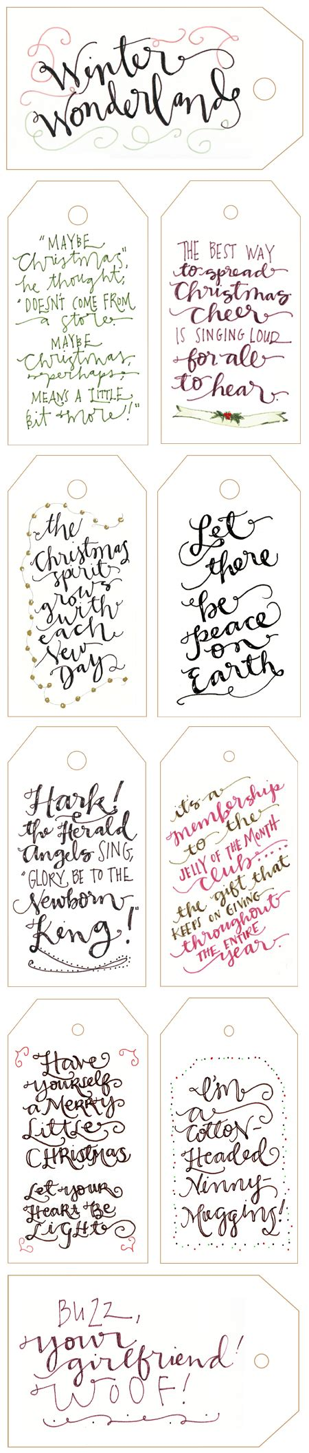 free printable christmas tags that you can type on free printable calligraphy gift tags just in time for the