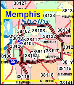 zip code map for memphis tn tennessee zip code map including county maps