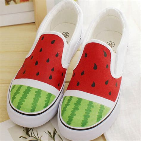 how to spell comfortable watermelon help low spell color comfortable flat cartoon character canvas shoes men and women