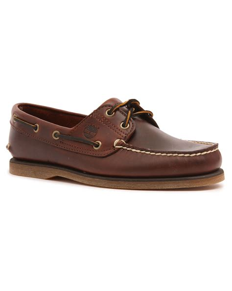 timberland boat shoes timberland classic brown leather boat shoes in brown for