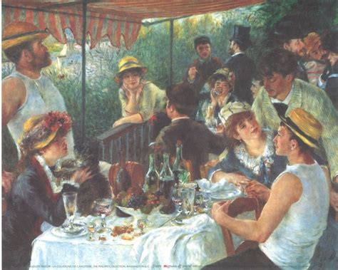 luncheon of the boating party restaurant luncheon of the boating party 1880 81 art print buy at