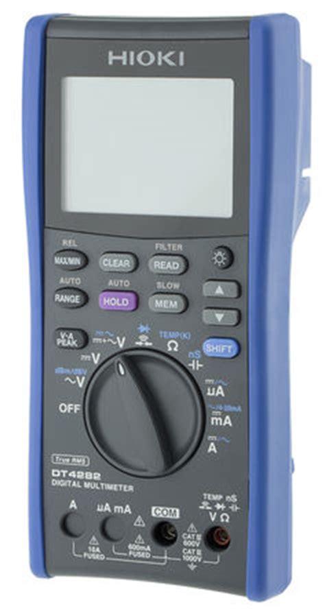 Hioki Dt4282 Digital Multimeter dt4282 hioki dt4282 digital multimeter 10a ac 1000v ac hioki