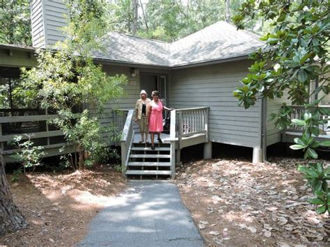 cottages at callaway gardens bridge going to the birds of prey show picture of
